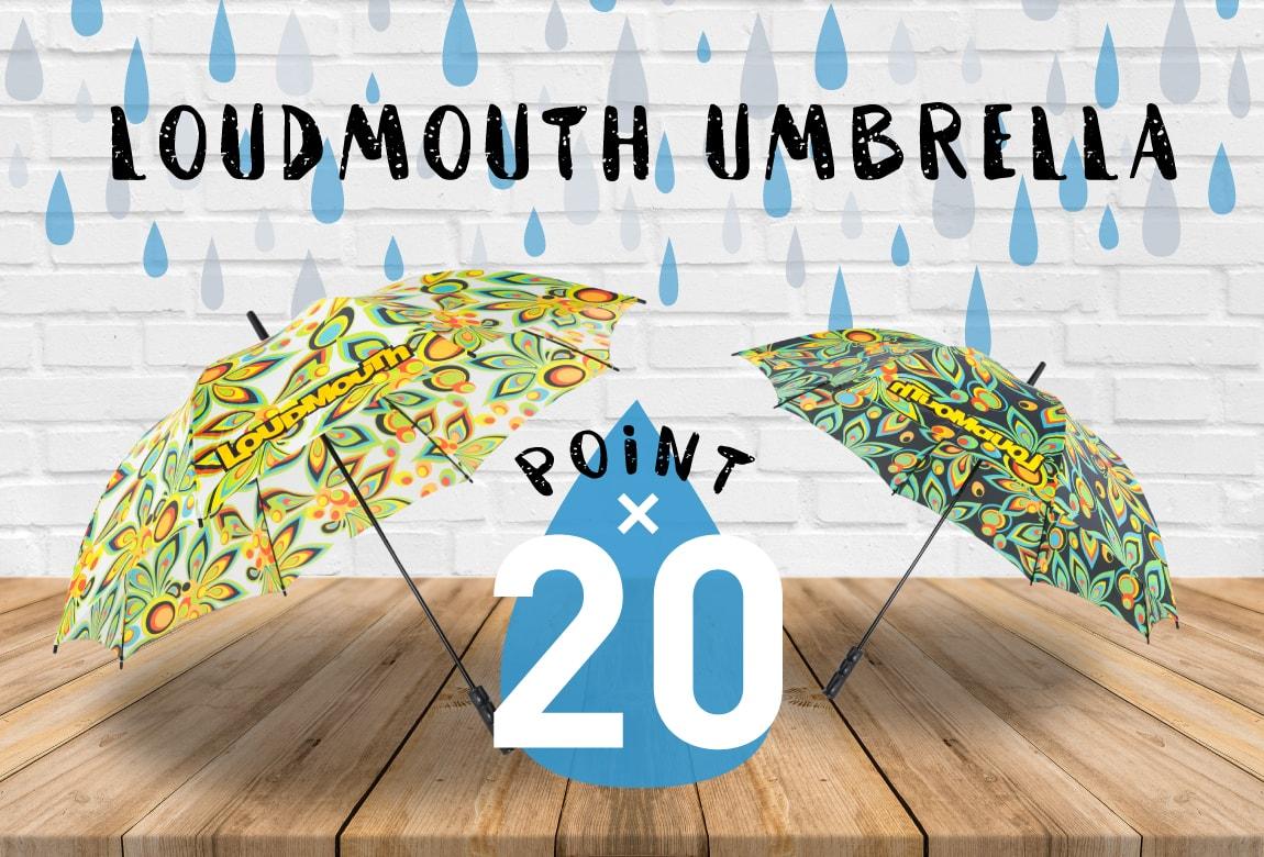 梅雨特集!ラウドマウスの傘購入でポイント20倍